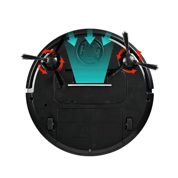 EAEY Limpieza automática Robot Aspirador fregona, Limpieza de Cabello de Mascotas y Pelo de Humano Aspiradora Robotica Inteligente