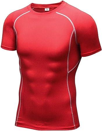 Camisa de compresión de los hombres Camisas de compresión atlética de entrenamiento para hombre Camisetas de manga corta, seca y fresca para ciclismo, entrenamiento, entrenamiento, fitness 6 colores P: Amazon.es: Hogar