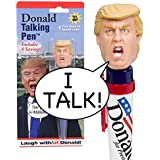Donald Talking Pen - 8 Different Sayings - Trump's REAL VOICE - Just Click and Listen - Funny Gifts for Trump...