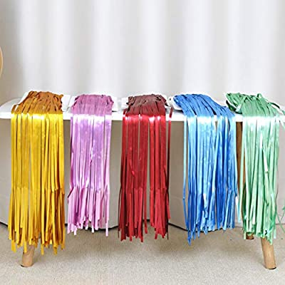 MatteTinsel Curtain Metallic Foil Curtain 2pcs 3.2ft6.4ft Curtain Decoration for Birthday Party Party Supplies Birthday Decorations Christmas Party Backdrop Decoration (2 Pack Red): Toys & Games