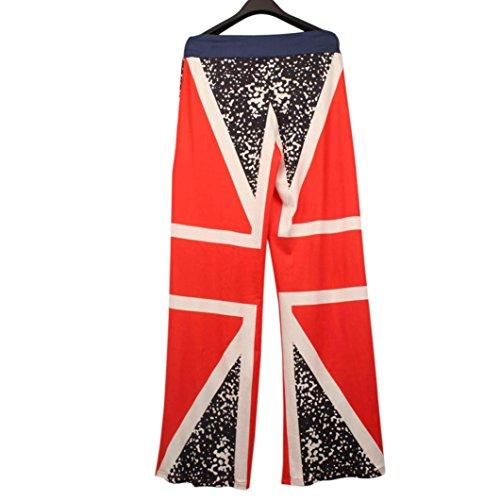 Sunsee Women British Flag Drawstring Wide Leg Pants