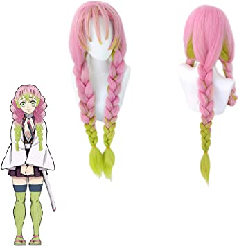 Amazon Com Chutoral Anime Kanroji Mitsuri Wig Demon Slayer Wig Heat Resistant Fiber Wig Anime Lovers Party Wig Sports Outdoors The bangs and the bottom of the wig is rather rough tho for some reason but it's whatever. amazon com