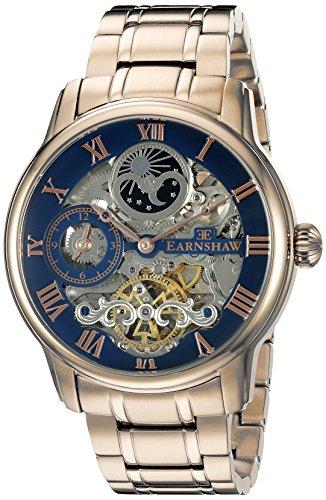 Thomas Earnshaw Men's ES-8006-44 Longitude Analog Display Automatic self wind  Rose Gold Watch