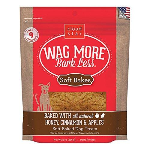 Cloud Star Wag More Soft Bakes Dog Treats - 9 ounce, Honey, Cinnamon and Apples by Cloud Star (Cinnamon Dog Treats Apple)