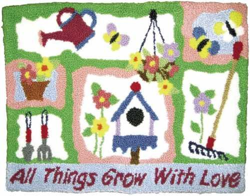 MCG Textiles Garden Rug Yarn Punch Needle Kit M.C.G. Textiles 73517
