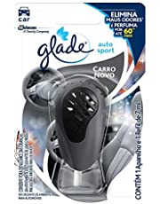 Desodorizador Glade Auto Sport Aparelho + Refil Carro Novo 7ml