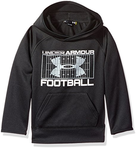 Under Armour Toddler Boys' Active Hoodie, Black Football, 2T