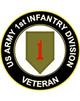 """3.8"""" US Army 1st Infantry Division Veteran Decal Sticker"""