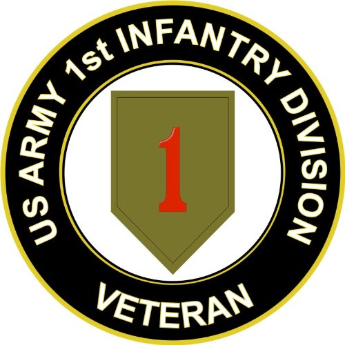 Army 1st Infantry Division Veteran Decal Sticker ()