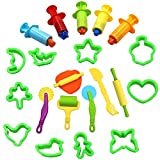play dough for girls - Md trade Smart Dough Tools Set with Clay Extruder Tools and Molds, Set of 21