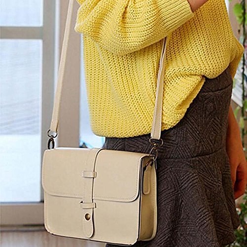 Beige Purse Bag Bag Cross Crossbody Women Paymenow Purse Shoulder Body Bag Leather Messenger Vintage FggwOInq