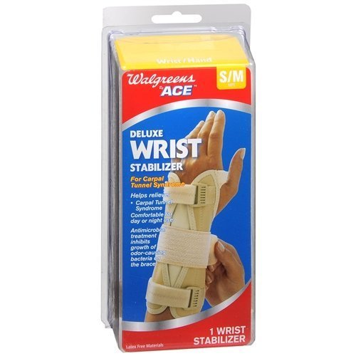 UPC 049022739758, Walgreens Deluxe Wrist Stabilizer, Left, Small/Medium, 1 ea