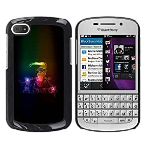 Paccase / SLIM PC / Aliminium Casa Carcasa Funda Case Cover para - Santa Claus Neon Winter Christmas Sleigh - BlackBerry Q10