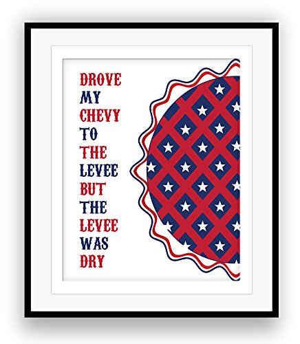 AMERICAN PIE by Don MacLean Song Lyric Poster Illustration