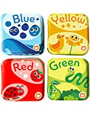 BabyBibi Floating Baby Bath Books. Kids Learning Bath Toys. Waterproof Bathtime Toys Toddlers. Kids Educational Infant Bath Toys. (Set of 4: Color Recognition Bath Books)