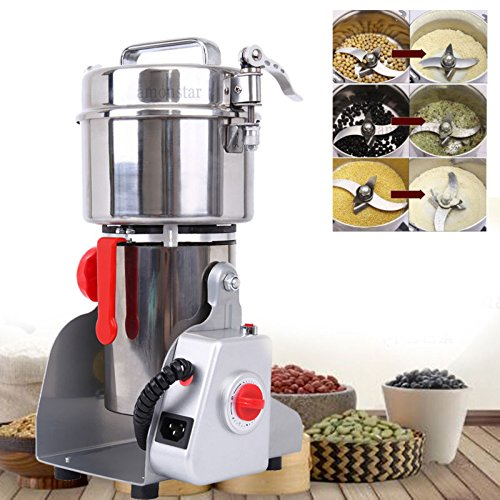 (Ridgeyard 700g Electric Grain Grinder Mill Powder Machine Mill Grinder Coffee Grinder for Bean Seed Nut Spice Herb Pepper Cereal Wheat)