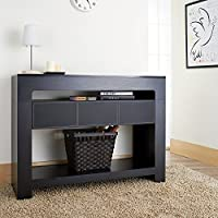 Arroya Modern Black Finish Console Table