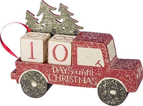 Primitive Christmas Decor - Primitives by Kathy Nordic Countdown Block, 9