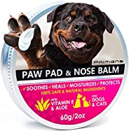 2 Oz Natural Dog Paw Balm, Dog Paw Protection for Hot Pavement, Dog Paw Wax for Dry Paws & Nose, Canine Pa
