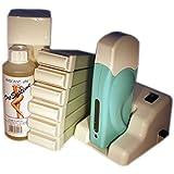 EPILWAX S.A.S - Kit D'Depilatorio Modular Completo De La Cera Desechables de L'Aleo Vera, con Dentado Grande Modelo para los animales piernas, axilas, y el corporal