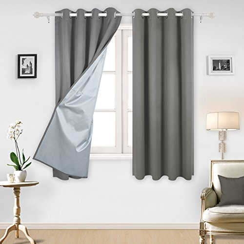 Deconovo Blackout Curtains Grommet Backside