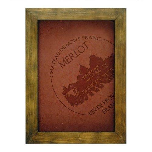 Merlot Framed - Framed ''Merlot' Wall Art and Cork Holder Wall Decor, 12