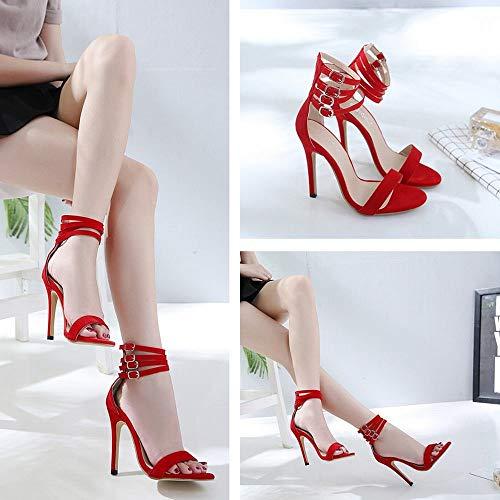 De Sexy Talons À Red Bouche Super Femme Hauts Felicioo Sandales Poisson wqPxOY7Ca