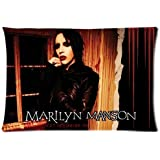 Marilyn Manson Rock Band Eat Me Drink Me Custom Pillowcase Cover Two Side Picture Size 16x24 Inch