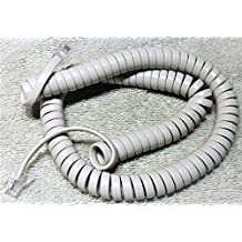 Off White 12' Ft Handset Phone Cord for Mitel Superset and 5000 IP Series by DIY-BizPhones