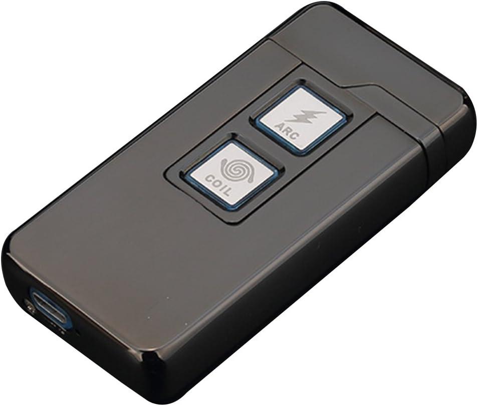 Densidad de Viento Recargables USB Encendedor de Cigarrillos Tocar Control Qimaoo 2/en 1/Plasma ARC mecheros y Coil