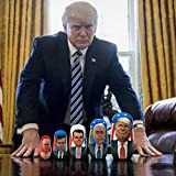 Concentric Surprise Trump & Putin Russian Matryoshka Nesting Doll - Kickstarter Famous! 6'' Tall - 5 piece set