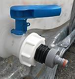 AMS196W13599 Auslaufadapter mit Stecker passend für Gardena, IBC-Container-Zubehör-Regenwasser-Tank-Adapter-Fitting-Kanister