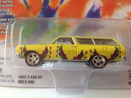 Chevy Chevelle Wagon - Johnny Lightning Grateful Dead 1965 Chevy Chevelle Wagon Yellow #4