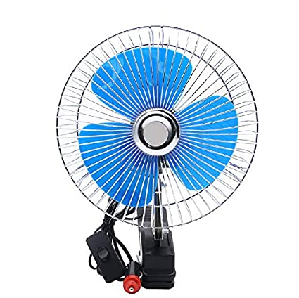 WSXX 24V Car Fan, Car Portable Hair Dryer Truck Can Be Adjusted To 6/8 Inches,8Inches