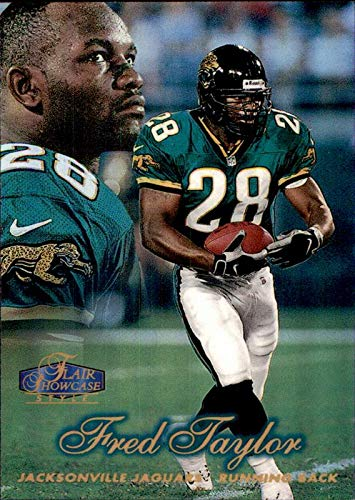 FRED TAYLOR JACKSONVILLE JAGUARS FLORIDA GATORS Jags 1998 Flair Showcase Row 2 RC #22 ROOKIE NFL Football - Flair 1998 Showcase