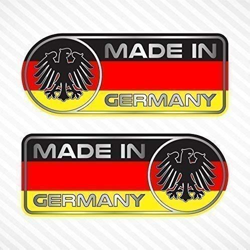 - Made In Germany Sticker Set Vinyl Decal Badge For German Car SUV Quarter Panel Emblem