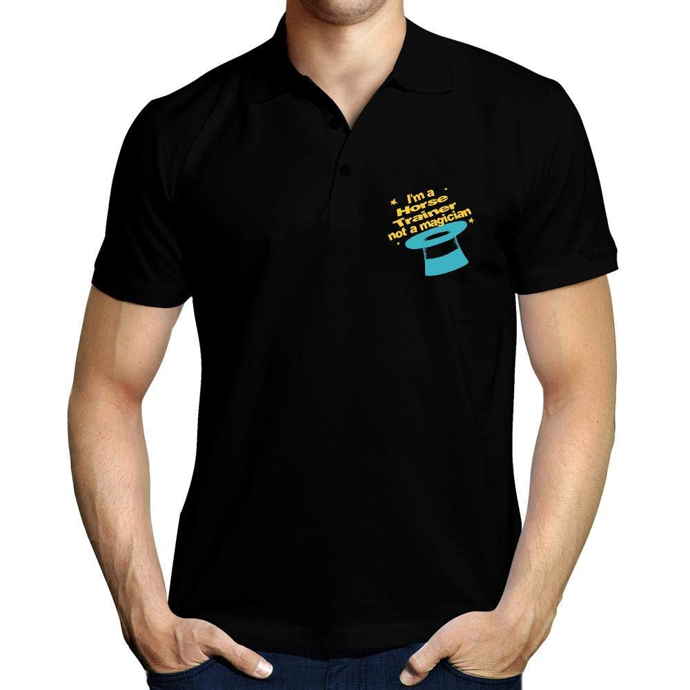 Idakoos Im a Horse Trainer, Not a Magician Polo Camisa: Amazon.es ...