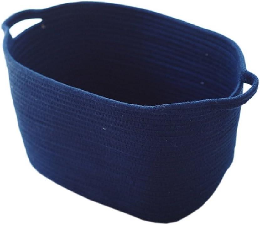 TSHOME Uni en tricot Panier de rangement Tissu ronde Panier /à linge avec poign/ées pour jouets de stockage de chambre denfant Poubelle V/êtements Holder 43/x 25/cm