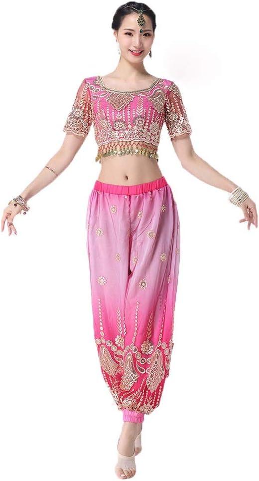 JIANPING Disfraz de Danza del Vientre Disfraz de Danza Sari India ...