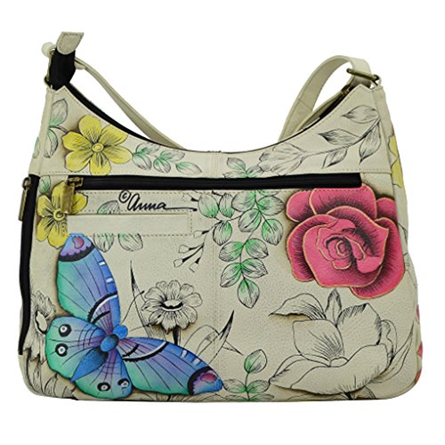 Hobo Large Leather Paradise Anna Purse Floral Holder Handpainted Anuschka Bundle nqRIxIvg67