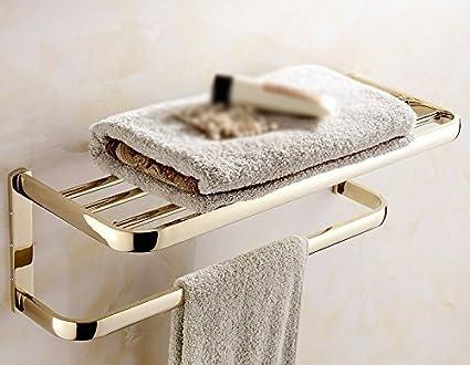 Towel Rack Home Soporte para Toallas Estante para baño Baño Estilo Europeo Oro
