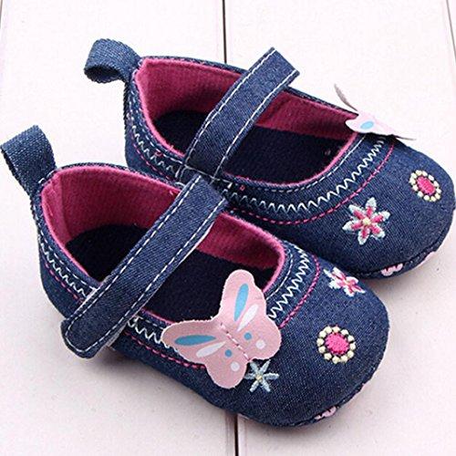Tefamore Zapatos De La Mariposa Bebés Del Primavera Verano Suaves Niño Niña Azul
