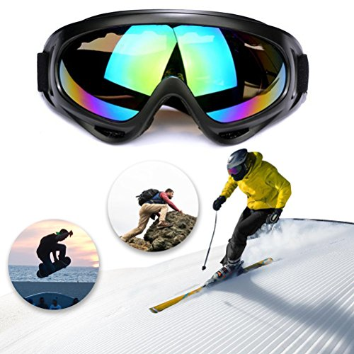 Shellvcase X400 Dust Protection Goggle Sun Glasses Windproof Safety Goggles for Riding Motorcycle, Bikes, Skiing etc. (Multi-color)