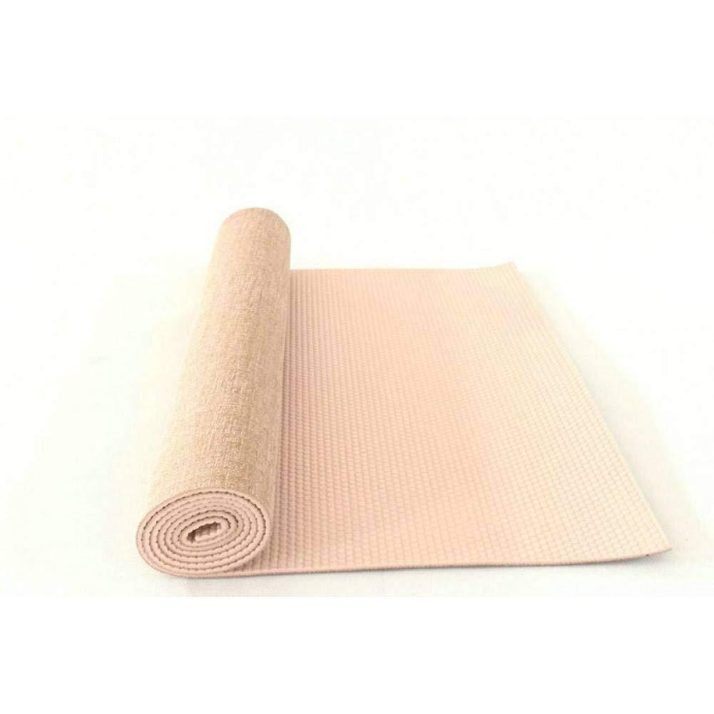 Beige wyj521 Tapis de Fitness Tapis de Yoga pour Tapis de Yoga Tapis de Yoga en Lin Vert Caoutchouc Anti-dérapant 183Cm  61Cm  5Mm Tapis de Yoga pour