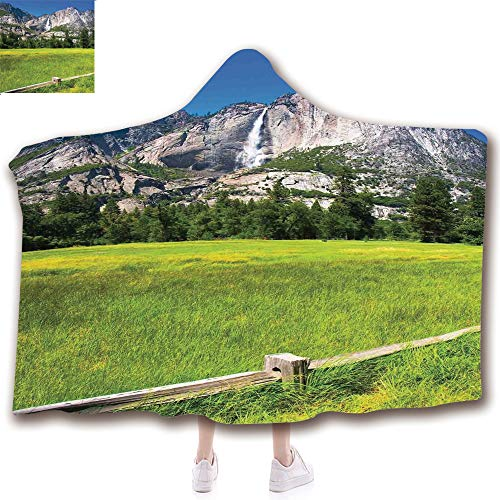 Fashion Blanket Ancient China Decorations Blanket Wearable Hooded Blanket,Unisex Swaddle Blankets for Babies Newborn by,National Park California USA Countryside Landmark,Adult Style Children Style