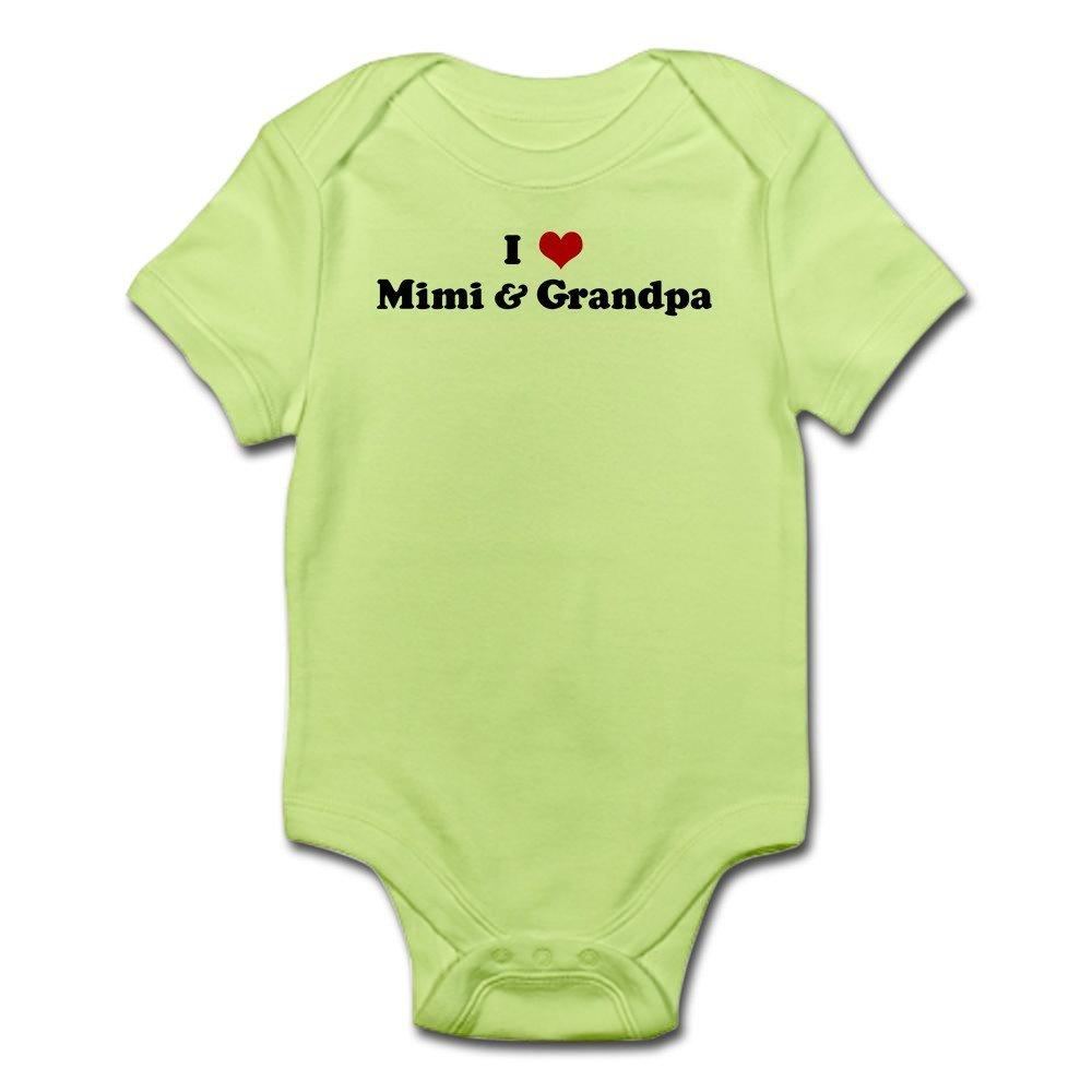 CafePress I Love Mimi /& Grandpa Body Suit Baby Bodysuit