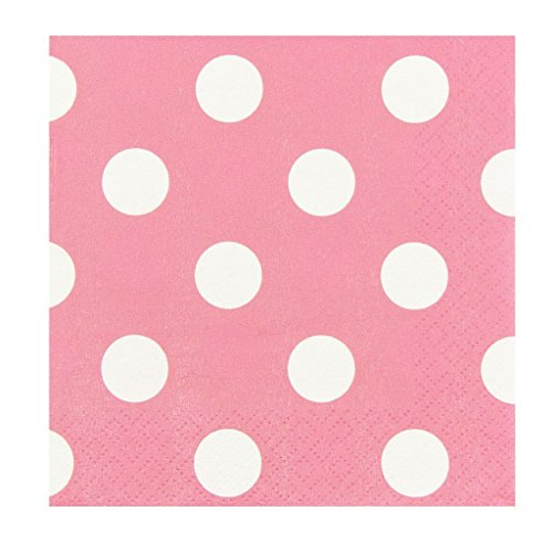 (JAM PAPER Small Polka Dot Beverage Napkins - 5 x 5 - Lime Green with Polka Dots - 16/Pack)