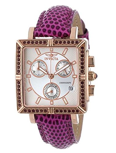 Invicta 10336 Women's Wildflower Classique Quartz Crystal Accented Purple Watch w/ 7-Piece Leather Strap Set (Invicta Men And Women Watch Set)