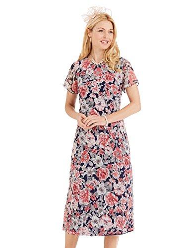 Dress inch Ladies Length Ladies inch 45 Womens Navy Chiffon 45 Chiffon Length AMBER Dress Ladies Color BYwFIqnf