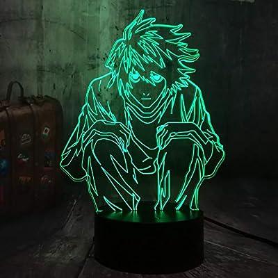 shiyueNB Film Comic Death Note Détective L Lawliet 3D LED